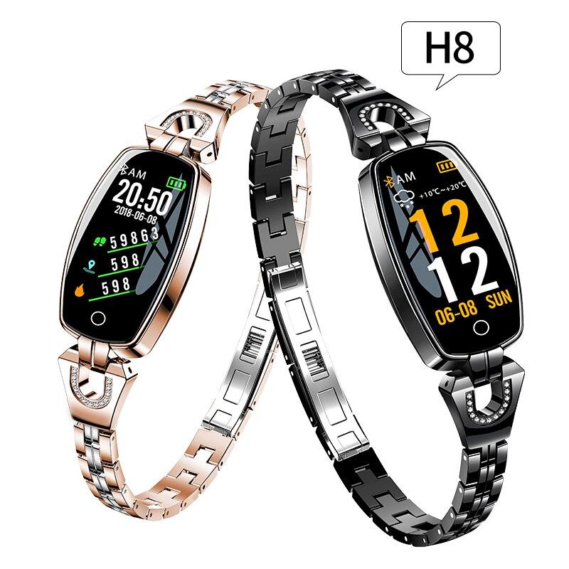Raaavi H8 femmes bande intelligente Bracelet de Fitness pression artérielle moniteur de fréquence cardiaque Multi sport Tracker montre intelligente pour Xiaomi Huawei