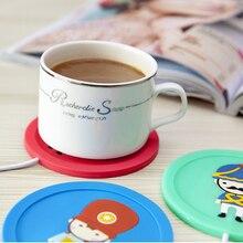 Cup Warmer Mat Plate Mug Pad Tea Milk Hot Drinks Heater 5V USB Cartoon Silicone