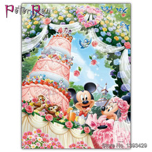 5D DIY Diamond painting Disney Mickey Mouse Full Square embroidery Cross stitch Round mosaic Birthday party
