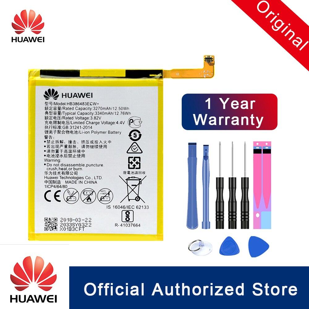 HuaWei 100% Original Battery HB386483ECW For Huawei Honor 6X G9 Plus Maimang 5 3340mAh Replacement Phone Batteria Akku Fast Ship