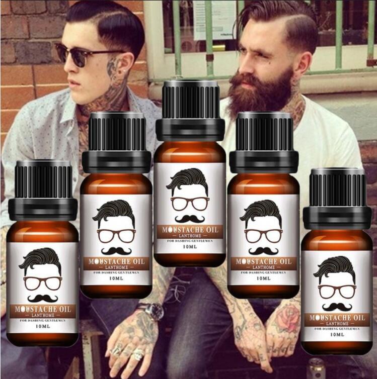 2018 Beard Growth Oil Beards Enhancer Thicker Essence Mustache Thick Sideburn Treatment Sunburst Alopecia Serum Beard Shaping