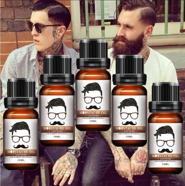 2018 Beard Growth Oil Beards Enhancer Thicker Essence Mustache Thick Sideburn Treatment Sunburst Alopecia Serum Beard Shaping