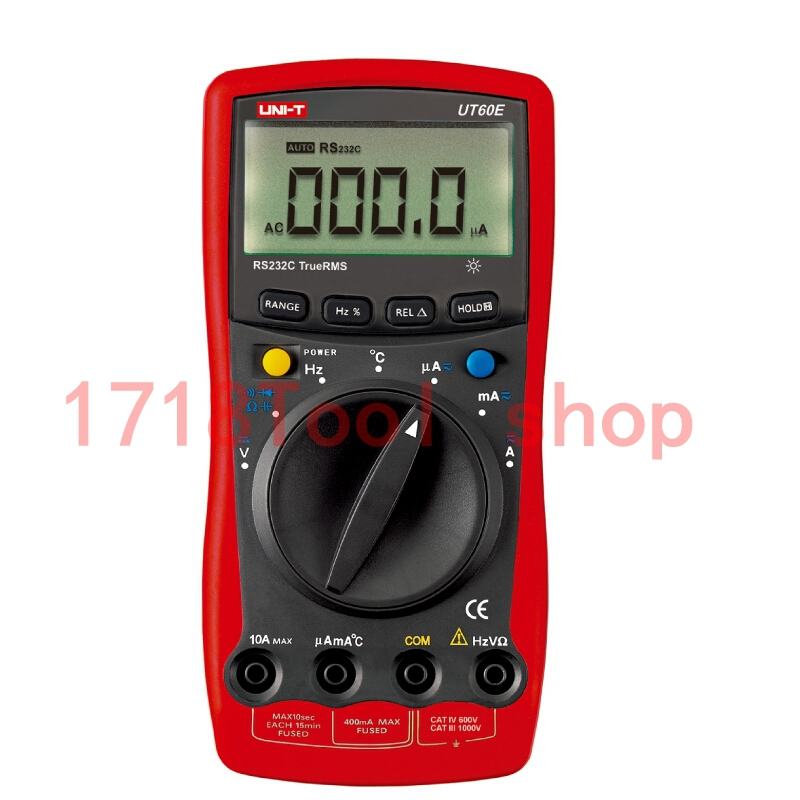 Uni T Ut60e Lcd Auto Ranging Modern Digital Multimeter Duty Cycle True Rms Ac Rs232c Tester Meters free Shipping 1 pcs mastech ms8269 digital auto ranging multimeter dmm test capacitance frequency worldwide store