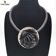 YD&YDBZ New Fashion Flower Pendant Necklace High Quality Handmade Womens Necklaces Jewelry Classic Round Big Design