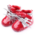 Fashion Spring Autumn Baby Girl Casual Baby Boy Leather Shoe Flat Heels Lace-up Striped Single Shoes Toddler Shoes First Walkers