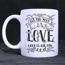 Funny Quotes Printed Coffee Mug -All you need is love gift Cups (11 Oz capacity)
