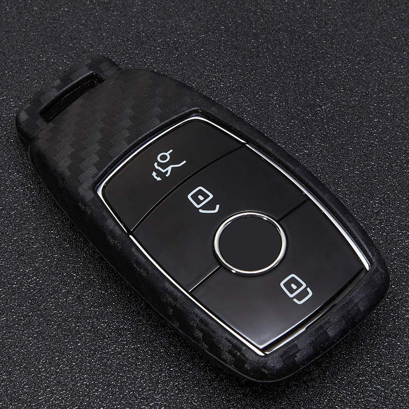 Soft Carbon Fiber Remote Key Fob Cover Case Protection For Mercedes Benz 2017 E Class W213 2018 S class Key Shell Accessories in Key Case for Car from Automobiles Motorcycles