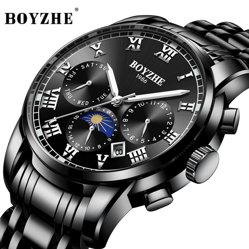Relogio Masculino 2019 Mens Watches Top Brand Luxury Automatic Mechanical Watch Men Full Steel Business Waterproof