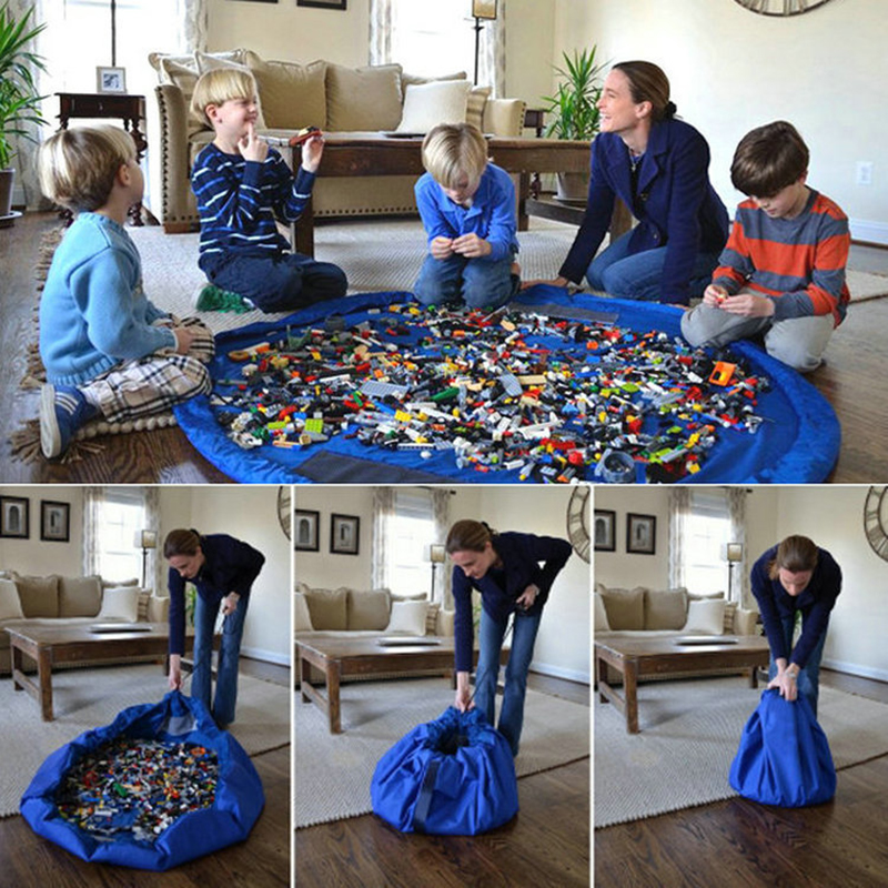 Children Play Mat Large Toy Storage Bag Baby Play Mat Polyester Kids Play Toys  Collection Bag
