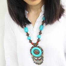 Tibetan ethnic jewelry wholesale necklace wholesale Bohemian big Medal  necklace G-190