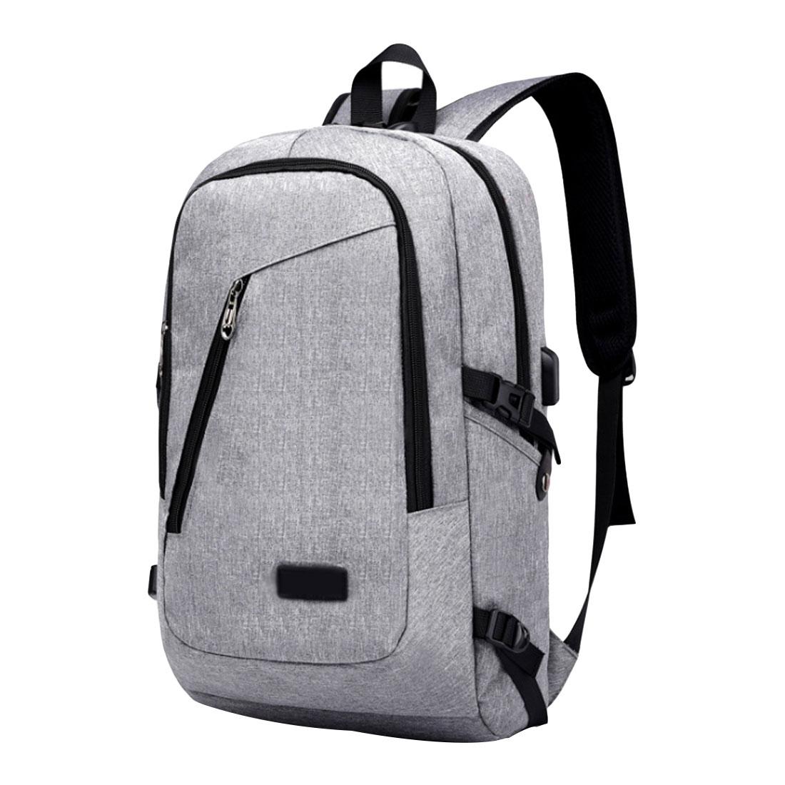 Simple Canvas Backpack School Bag For Teenagers Student Book Laptop Back Pack Travel Men Satchel Rucksack