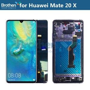 ЖК-экран для Huawei Mate 20 X, ЖК-дисплей для Huawei Mate 20 X, ЖК-дисплей в сборе, дигитайзер сенсорного экрана, сменный тестовый Топ для телефона