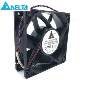 Image 1 - Ventilador do mineiro para a eletrônica delta afb1212ghe 120mm dc 12v 3.24a 3 pinos ventiladores de refrigeração de alta velocidade, 5200rpm 220cfm