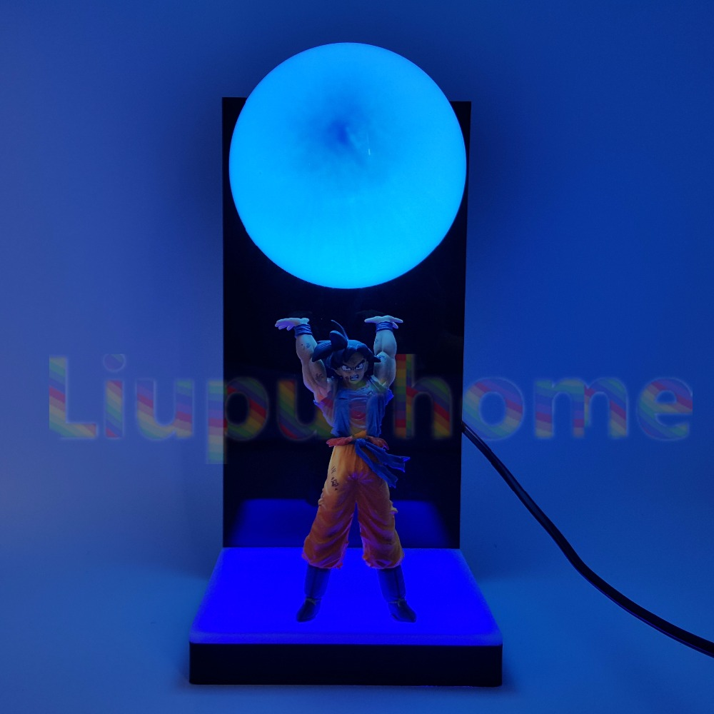 Dragon Ball Z Son Goku Spirit Bomb Blue Led Base Diy Set Night Lights Anime Dragon Ball Super Dbz Led Table Lamp Christmas Decor Lights & Lighting Led Lamps