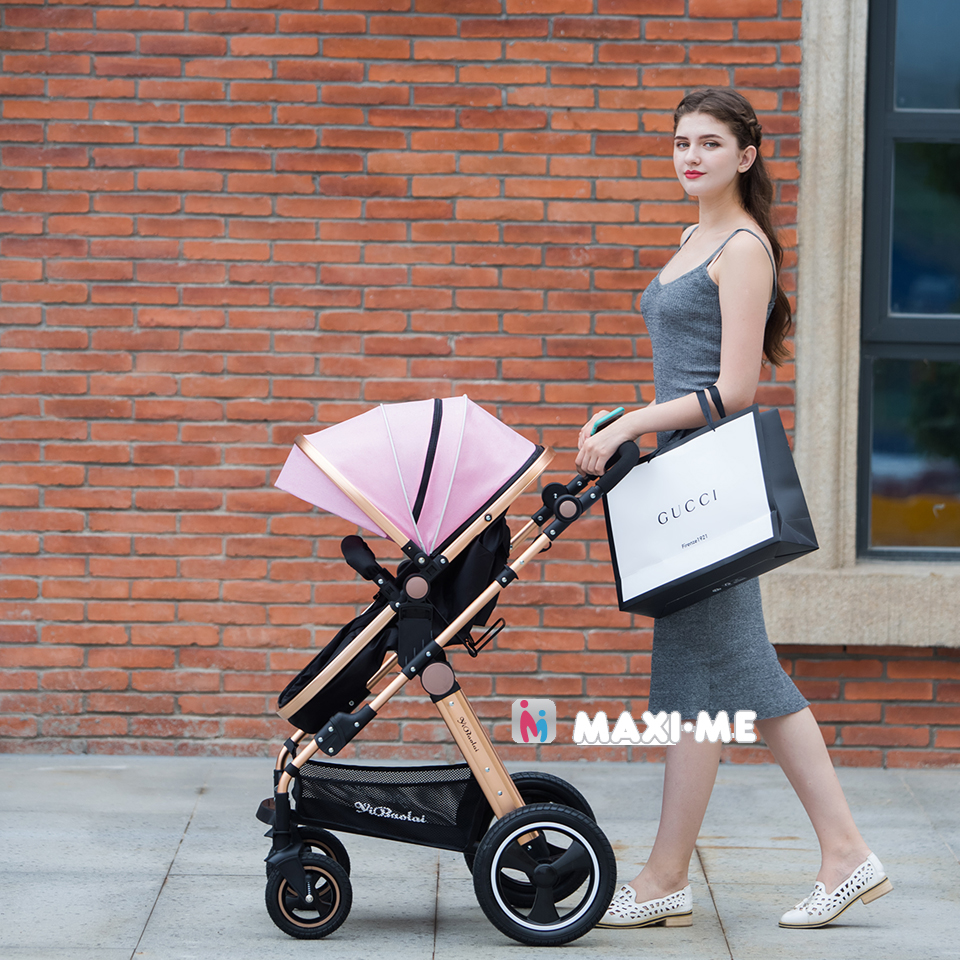 From Newborn Baby Stroller 2 in 1 High Views Pram Foldable Baby Travel System Folding Carriage Carrinho-de-bebe 2 em 1 Cochecito hot hot sale baby stroller travel system baby wholesale and retail modern stroller red and green color pram is pneumatic tyre