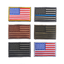 Embroidery Patch US American Flag 3D Tactical Morale Patches Army Embroidered Badges For Jackets Backpack 8.5*6.5CM