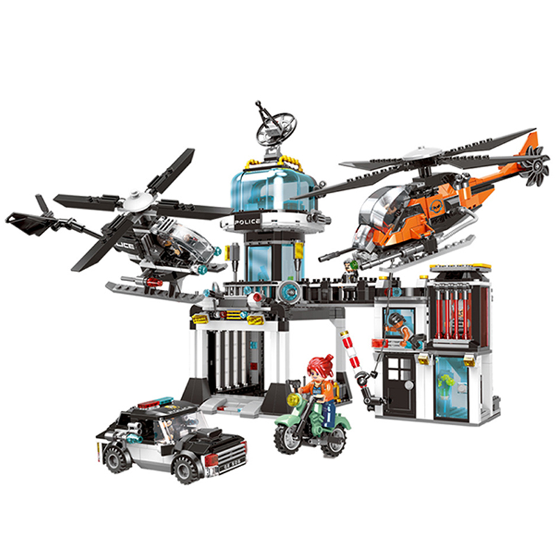 XINGBAO 10001 City Police Series The Police Operational Command Station Set Building Blocks Bricks Kids Toys Model Birthday Gift цена