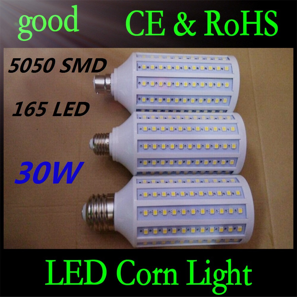 E27 B22 E40 30W 5050 SMD 165 LED Chip Corn Light AC110V/220V Warm/White Bulb Maize Lamp Home Indoor Outdoor street lighting 5pcs led mirror light wall front lamps bathroom light 1w 3w 5w 7w 9w 15w samsung chip smd 5050 ac85 265v bulb white warm white uw