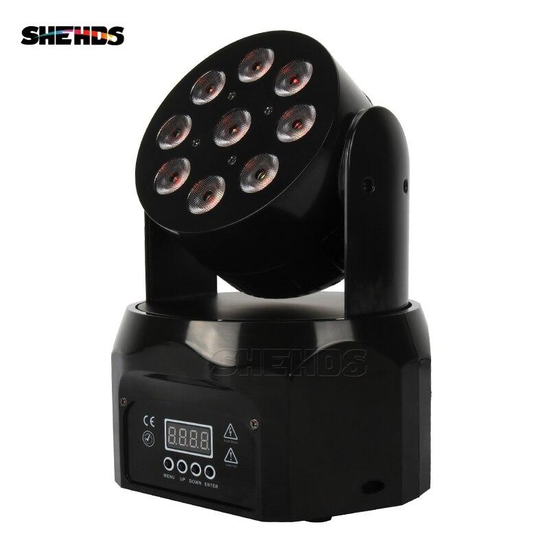 10 pièces LED lavage 9x12W RGBW 4IN1 tête mobile DMX512 effet de scène éclairage bon pour événement Disco DJ fêtes piste de danse discothèque
