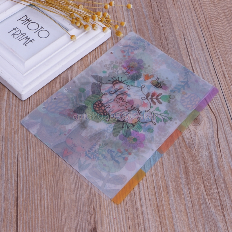 5Pcs Floral Category Page Planner Index Page Notebook Translucent 6 Hole Binder j12 dropshipping Karachi