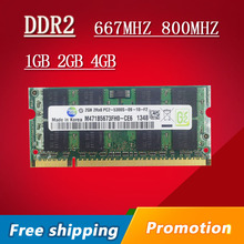 Sale 1gb 2gb 4gb DDR2 DDR 2 667 800 667mhz 800mhz PC2-5300 PC2-6400 sodimm so-dimm sdram Memory Ram Memoria For Laptop Notebook