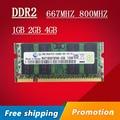 Venta 1 gb 2 gb 4 gb DDR2 DDR 2 667 800 667 mhz 800 mhz PC2-5300 sodimm PC2-6400 so-dimm de Memoria sdram de Memoria Ram Para Laptop