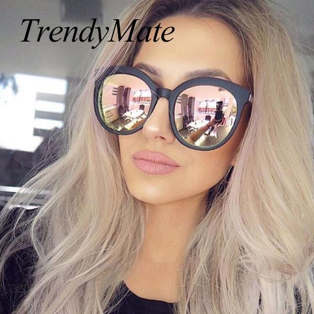 Женские Элитный бренд Солнцезащитные кошачий глаз дамы розовый розовое золото солнцезащитные очки 2017, женская обувь UV400 зеркало солнцезащитные очки люнет Femme 741 м