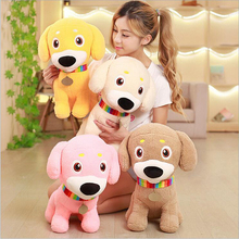 New Style Lovely Dog Wearing Scarf Plush Toy Stuffed Animal Doll Children Birthday Gift