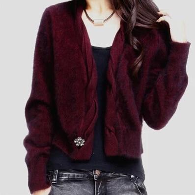 Nouveauté pulls courts femme pull hiver diamant perlé épais manteau marque pull tricoté