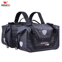 WOSAWE Motorcycle Waterproof Saddle Bag Racing Race Moto Helmet Travel Bags Knight Rider Multi Function Portable Bag Luggage