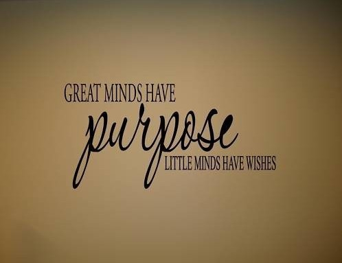 60pcslot GREAT MINDS HAVE PURPOSE Vinyl Wall Quotes Lettering Free Beauteous Purpose Quotes