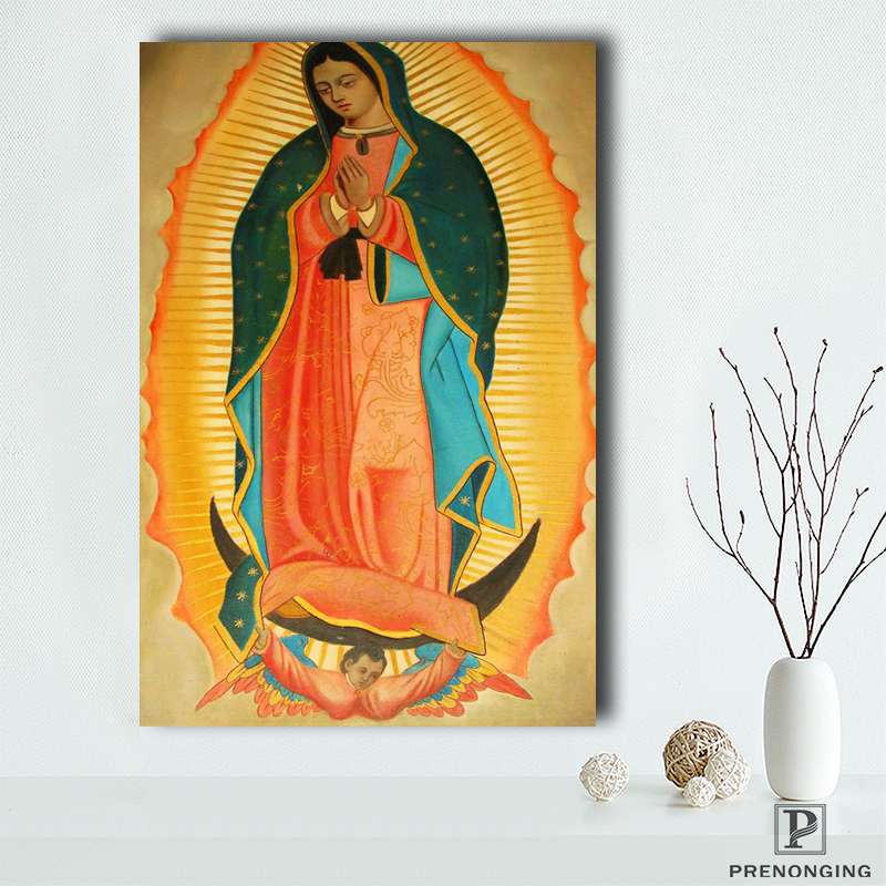 Canvas POSTER Fabric Catholic Icon Virgin GUADALUPE LADY Home-Decor -190114s04 Silk OF
