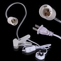UK Plug Flexible E27 LED Light Bulb Lamp Holder On Off Switch 50cm Power Cable Cord