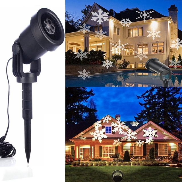 Snowflakes Laser Lamp Light Landscape Waterproof Projector Christmas Lights Outdoor Decor Spotlights Garden Tree and Wall Motion