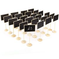 24 шт Мини Доска записываемая стираемая запись для указания номера столика для свадебного ресторана кафе бар