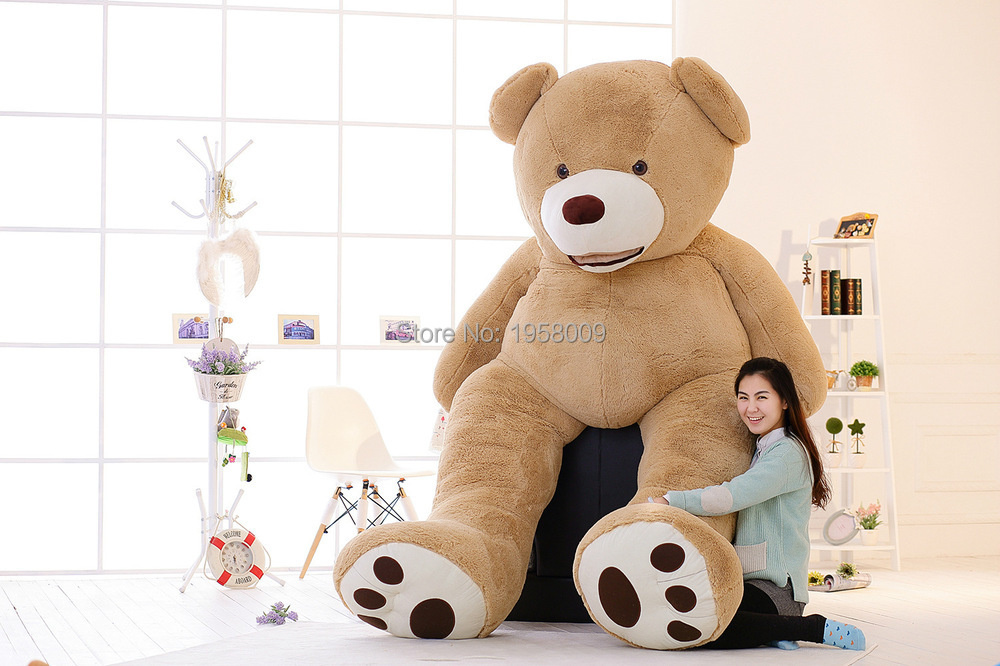 huge giant teddy bear 340cm 134inches deluxe plush huge high quality cotton plush life size. Black Bedroom Furniture Sets. Home Design Ideas