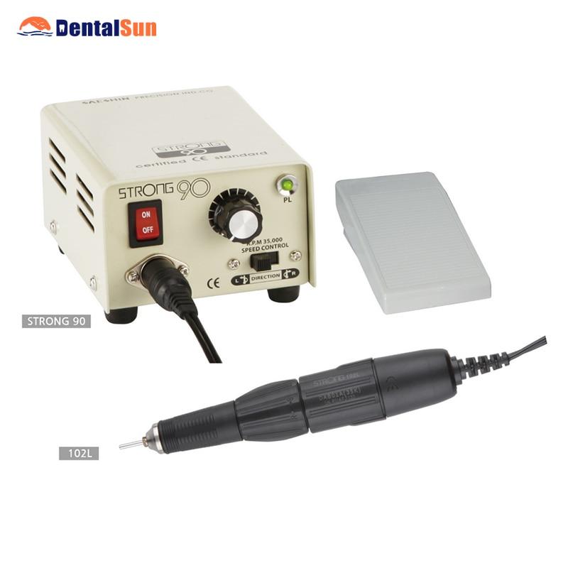 Dental Less-vibration Standard Carbon Brush Motor Strong 90 Micro Motor + 102L Handle