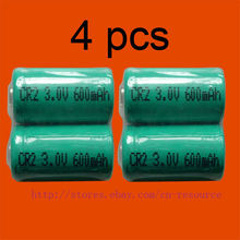 4 x Перезаряжаемые CR2 CR-2 15270 3,0 v литий-ионный аккумулятор Батарея