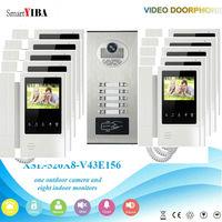 SmartYIBA 10 Units Apartment Intercom Kit RFID Access IR Camera+ 10 pcs Indoor Monitors Video Intercom Door Phone System