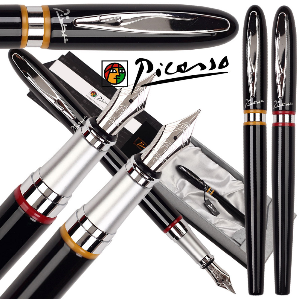 RollerBall Pen  Fountain pen Picasso 907 shcool and office stationery wholesale 12pcs/lot   Free Shipping 8pcs lot wholesale fountain pen black m 14 k solid gold nib or rollerball pen picasso 89 big executive stationery free shipping