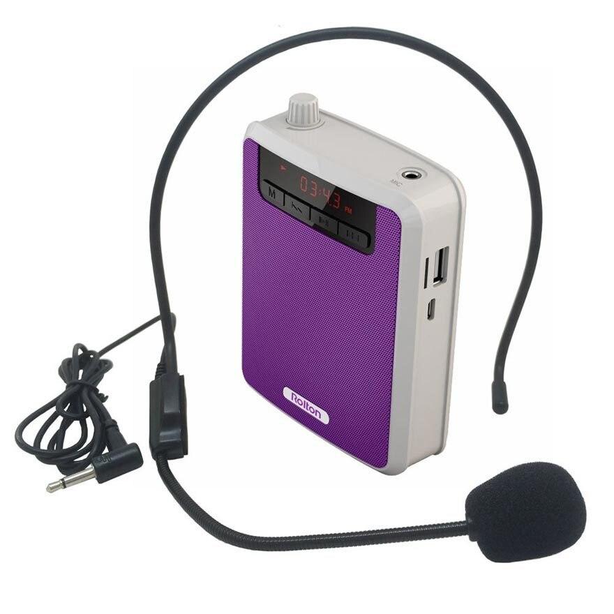 Unterhaltungselektronik Treu Tragbare Wired Mini Audio Lautsprecher Megaphon Verstärker Stimme Lautsprecher Mikrofon Taille Band Clip Unterstützung Fm Radio Tf Mp3 Spielen