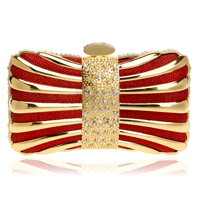 Chain Shoulder Day Clutches Evening Bags Diamonds Tin Mixed Color Black/Red/Silver/Blue/Gold Evening Bag For Wedding Handbags