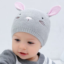 3cadb321ef0 Children Hat Cute Bunny Baby Winter Hats for Newborn Infant Beanie Hat with Ear  Kids Girl Boys Baby Knit Caps