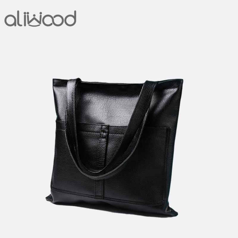 קונים תיקי אופנה 2017 - 2020 New Womens Handbags Fashion Shoulder Bags Messenger Bag PU Leather Tote High Quality Shopping Bag Large Capacity Bolsas