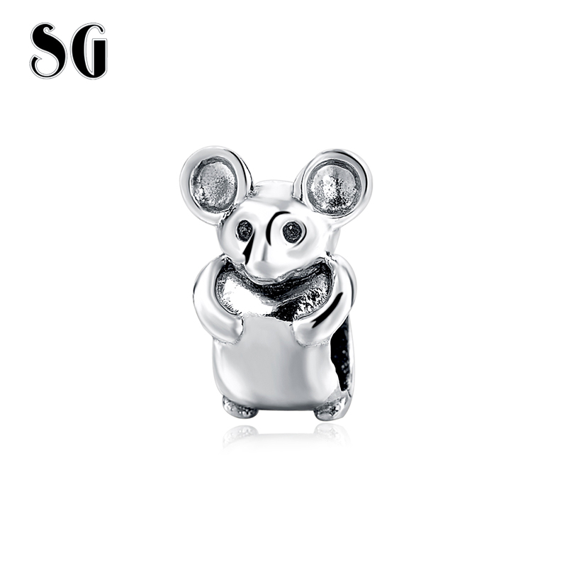 Remarkable Rabbit Cute Bunny beads Fit pandora Charms Bracelet Pure 925 Sterling Silver Real Jewelry DIY Bead Have Marking gift