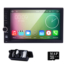 Auto Radio de Coches Reproductor Multimedia 2 Din Car Stereo Android Bluetooth 5.1 Quad Core 1024*600 HD de Pantalla Táctil Wifi USB SD GPS