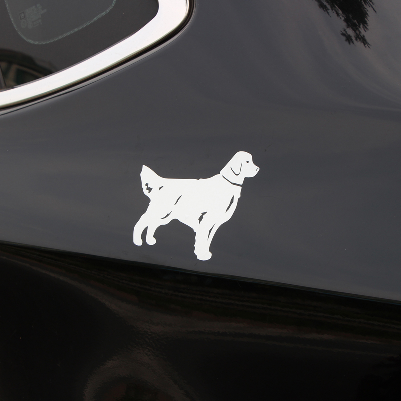 BEMOST Car Styling Funny Animal Golden Retriever Dog Car Stickers Waterproof Vinyl Decals Decoration Auto Accessories 14*11cm