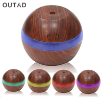 300ML USB Aroma Essential Oil Diffuser Air Purifier Touch Switch Humidifier LED Light Ultrasonic Humidifier Mist