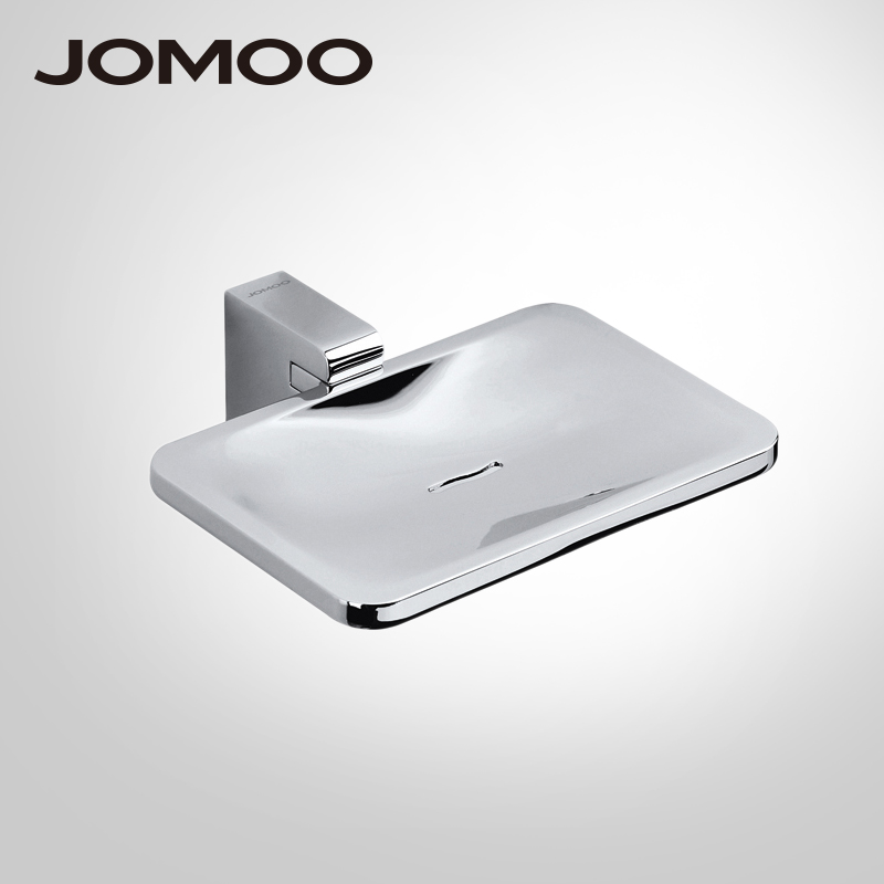 JOMOO Soap Dish Zinc Alloy Soap Holder Wall Mounted Box Soap Basket Rectangle Dish With Removable Holder Bathroom Accessories wall mounted plastic soap dish holder