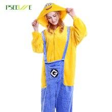 Flannel Adult Pyjamas Women Men Cosplay Animal Cartoon Sleepwear Women's Sleep